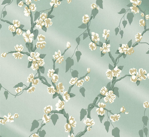 Little Green Behang Little Greene Behang Archive Trails Paradise Aqua Lustre