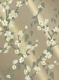 Little Green Behang Little Greene Behang Archive Trails Sakura Metal Lustre