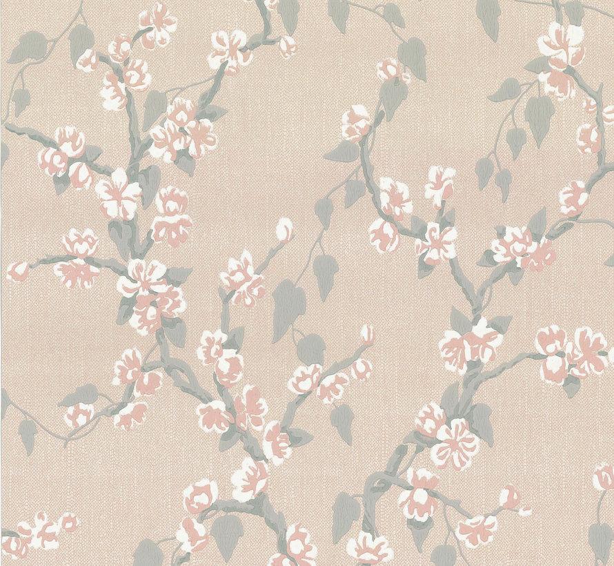 Little Greene Behang Archive Trails Sakura Petal