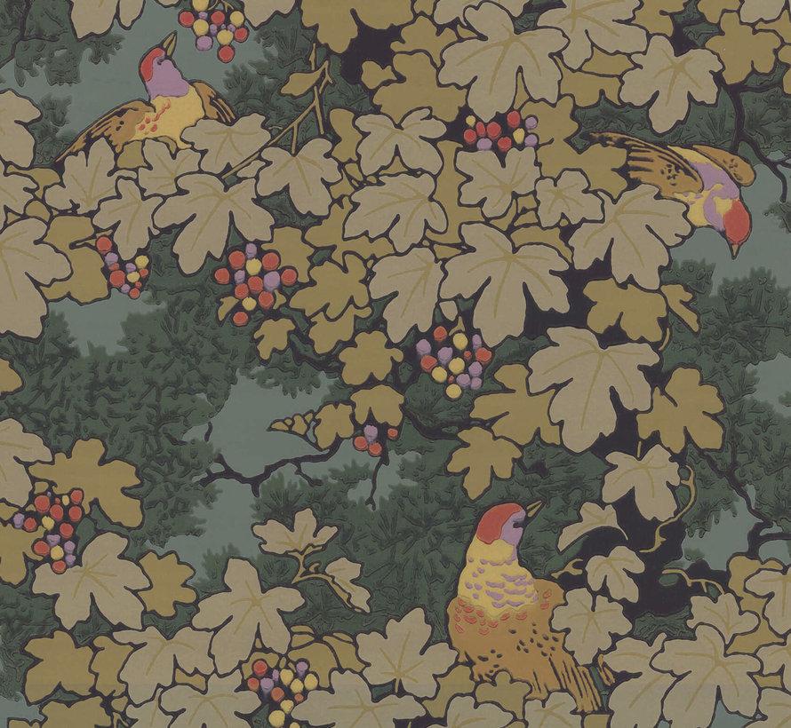 Little Greene Behang Archive Trails Vine Verde