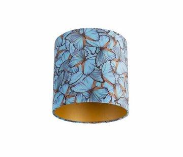 Diga by Colmore Copy of Lampenkap fluweel blauwe vlinder 25x25x25