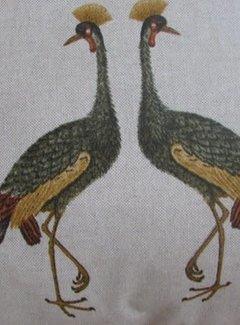 Zisensa, private collection Unieke woonaccessoires Copy of Sierkussen Kraanvogel blauw 50x50cm.