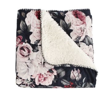Zisensa, private collection Unieke woonaccessoires Plaid flower met fleece