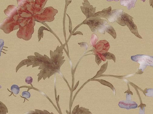 Little Green Behang China Rose - BRONZE