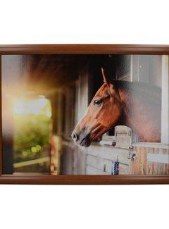 KitchenCraft; Engelse Kwaliteitsprodukten Laptray, Schootkussen Paard, Stable Horse