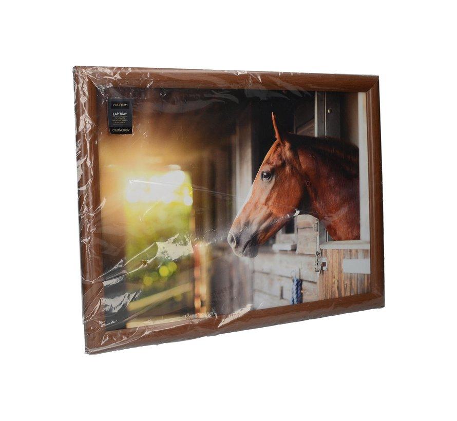 Laptray, Schootkussen Paard, Stable Horse