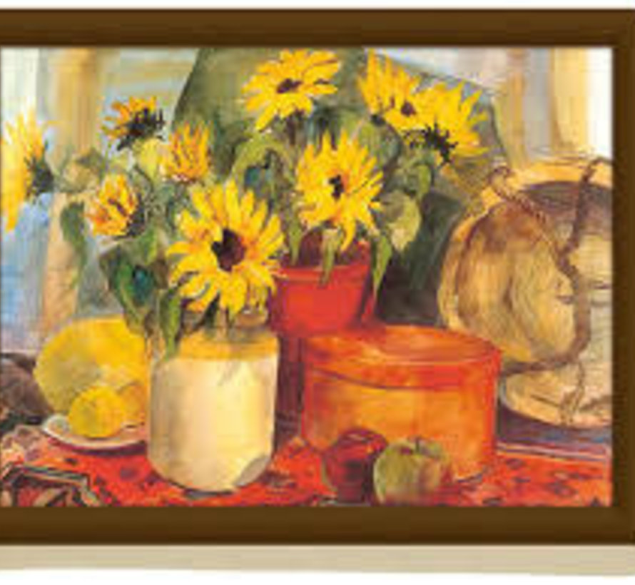 Schootkussen, laptray Zonnenbloemen, sunflower