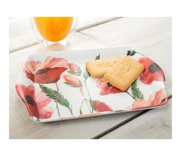 KitchenCraft; Engelse Kwaliteitsprodukten Dienblaadje Klaprozen - s-