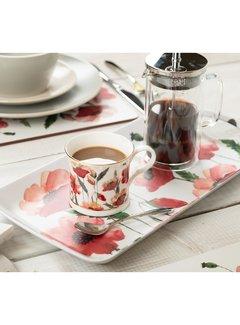 KitchenCraft; Engelse Kwaliteitsprodukten Dienblad Klaprozen - m-