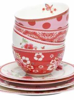 Room  Seven Bowl Dots roze rood