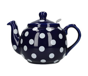 The London Pottery Company Theepot blauw met witte stippen