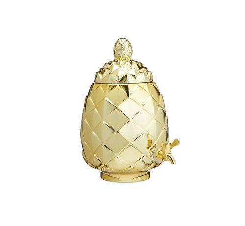 KitchenCraft; Engelse Kwaliteitsprodukten BarCraft Metallic gouden drankdispenser Ananas