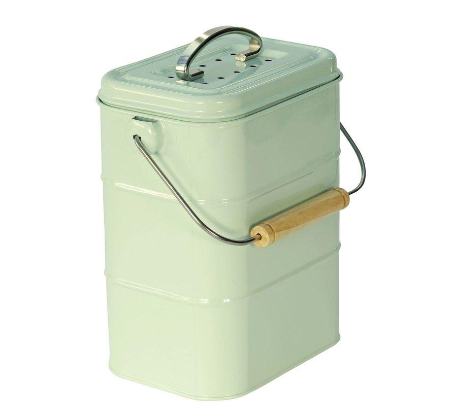 CompostBin, Afvalemmer GFT creme/groen/blue