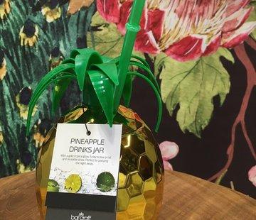 KitchenCraft; Engelse Kwaliteitsprodukten Copy of Cactus Drink jar met rietje