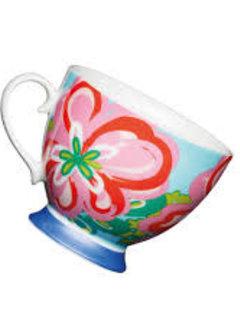 KitchenCraft; Engelse Kwaliteitsprodukten Mok op voet trendy bloem