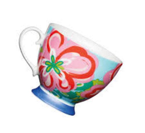 KitchenCraft; Engelse Kwaliteitsprodukten Copy of Mok op voet blauw met vlinders