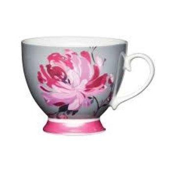 KitchenCraft; Engelse Kwaliteitsprodukten Copy of Mok op voet trendy bloem