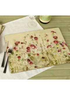 KitchenCraft; Engelse Kwaliteitsprodukten Placemats Wilde Klaprozen, aquarel