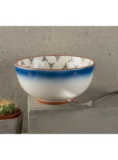 Drift by Mikasa Bowl, kom blauw wit