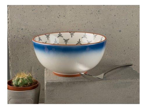 Drift by Mikasa Bowl, kom blauw wit