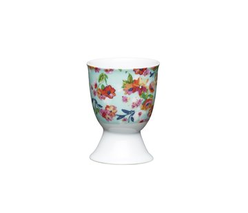 KitchenCraft; Engelse Kwaliteitsprodukten Eierdopje porselein gebloemd set/2