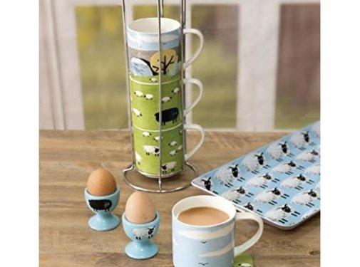 Zisensa, private collection Unieke woonaccessoires Woolly mornings, stapelmokken set/4