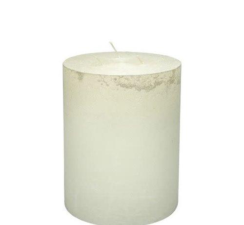 Branded By; Hoge kwaliteitskaarsen Stompkaars Parelmoer wit  3 lonten