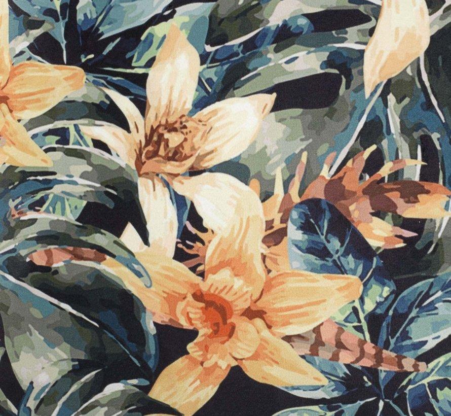 Sierkussen Yellow blue Flower