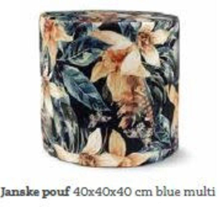 Copy of Sierkussen Yellow blue Flower