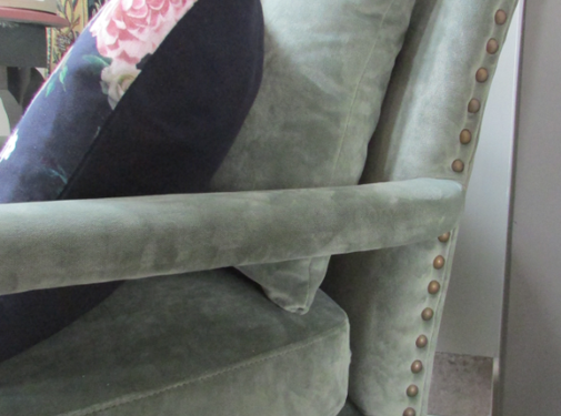 Diga by Colmore Fauteuil Madison fluweel groen