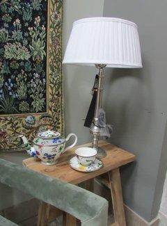 Couronne Klassieke lampenkap plisse wit 35cm.