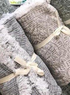 Walra Bed & Badgoed Plaid Yara Taupe