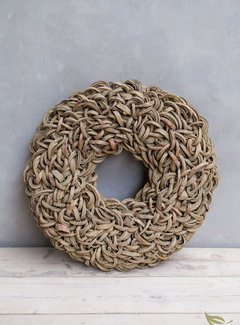 Couronne Krans Coco Wreath 40 cm. Yellow -Wash