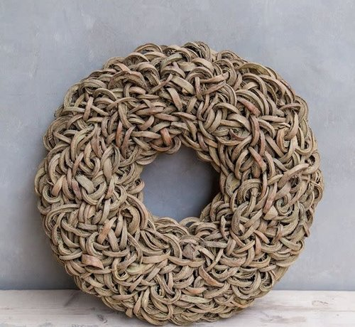 Couronne Krans Coco Wreath 40 cm. Yellow -Wash  95
