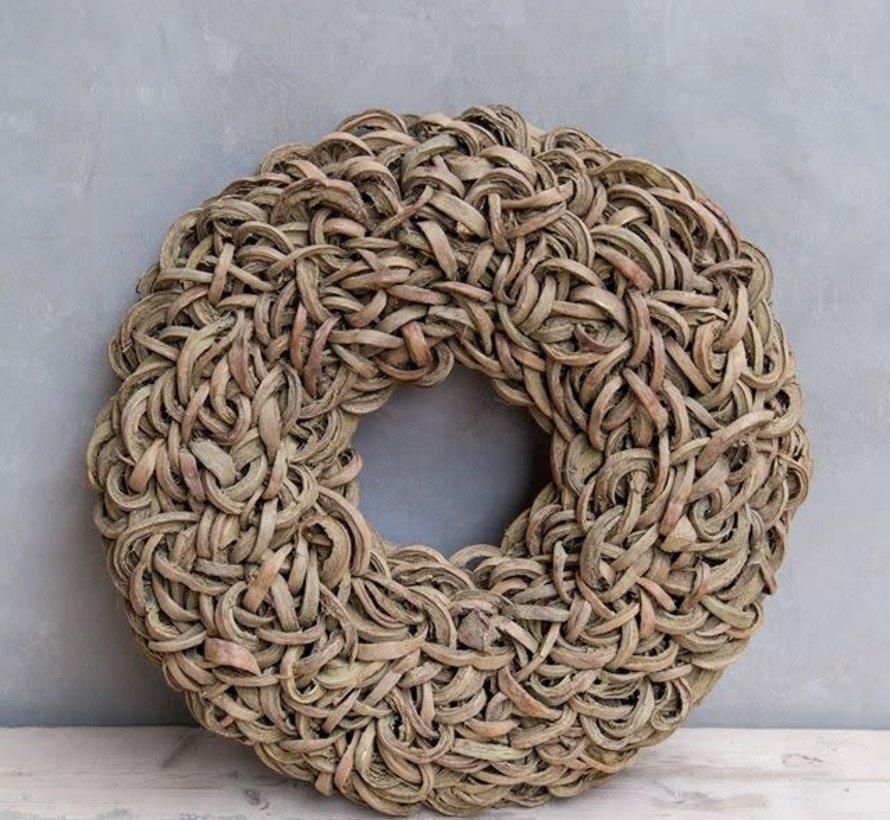 Krans Coco Wreath 40 cm. Yellow -Wash  95