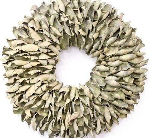 Couronne Krans Palm Petal Wreath  25 cm. Yellow-Wash