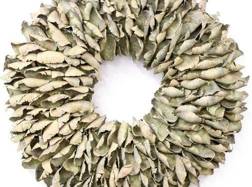 Couronne Krans Palm Petal Wreath  25 cm. Yellow-Wash