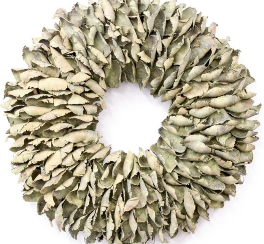 Krans Palm Petal Wreath  25 cm. Yellow-Wash