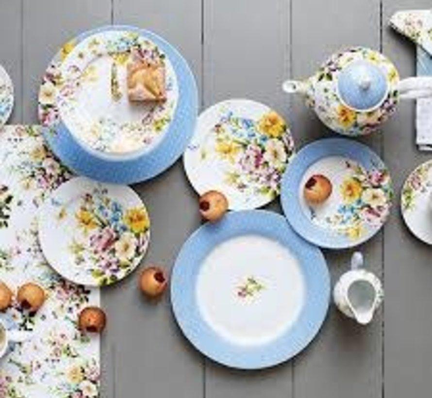 Katie Alice English Garden Ontbijtbord, blauwe stippen