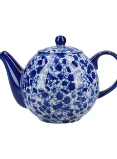 The London Pottery Company Copy of Theepot blauw met witte stippen 1,1 liter