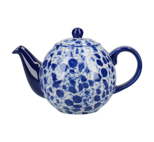 The London Pottery Company Copy of Splash® 4 kops Theepot  Blue  900ml.