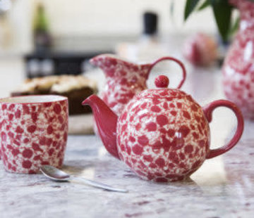 The London Pottery Company Splash® 2 kops Theepot Rood  500ml.