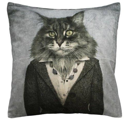 Mars & More Fluwelen kussen Kat