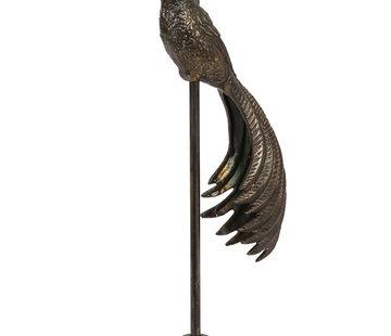 Zisensa, private collection Unieke woonaccessoires Lampvoet  JADY antiek brons  Ø17,5x65 cm