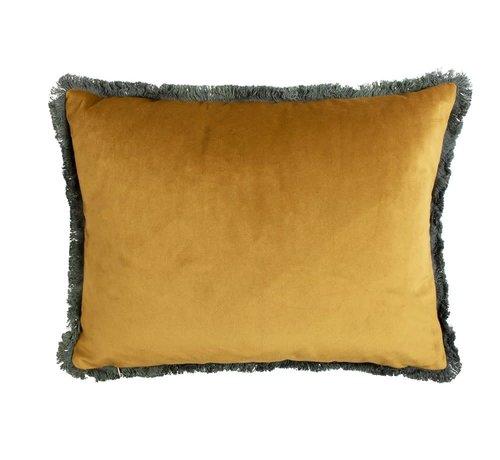Mars & More Copy of Kussen fluweel goud navy 45x45cm