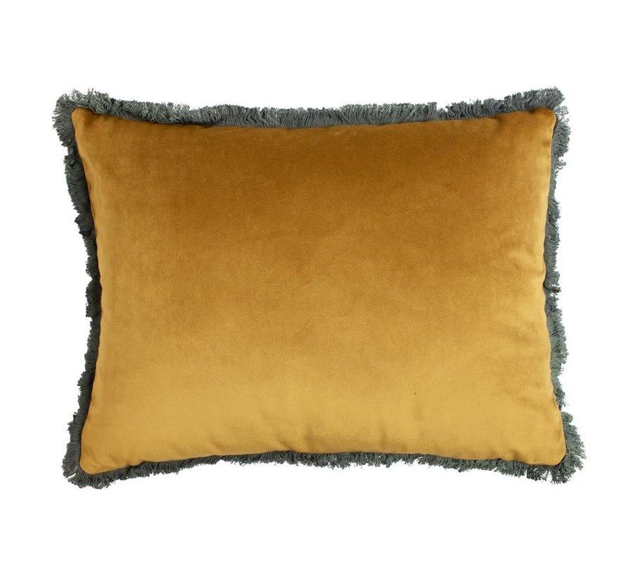 Copy of Kussen fluweel goud navy 45x45cm
