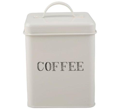 Stir It Up; Wit servies met tekst Voorraadblik koffie -COFFEE-