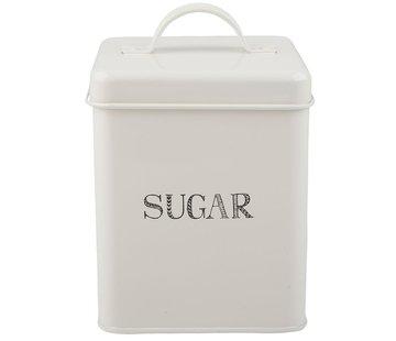 Stir It Up; Wit servies met tekst Stir it Up; Voorraadblik suiker -SUGAR-