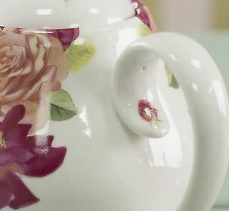 Southbourne Rose; Theepot met rozen