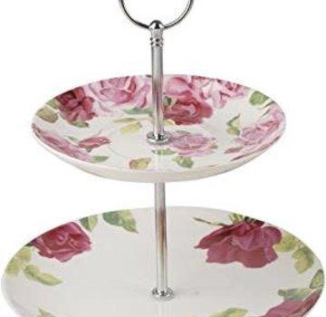 Kew Gardens; Engels servies met bloemen Copy of Southbourne Rose; Kop en schotel wit